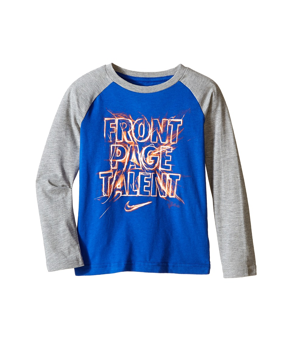 Nike Kids - Front Page Talent Long Sleeve Top (Little Kids) (Reflex Blue) Boy's Long Sleeve Pullover