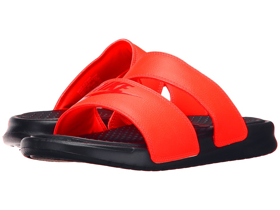 Nike - Benassi Duo Ultra Slide (Bright Crimson/Light Crimson/Black) Women's Slide Shoes