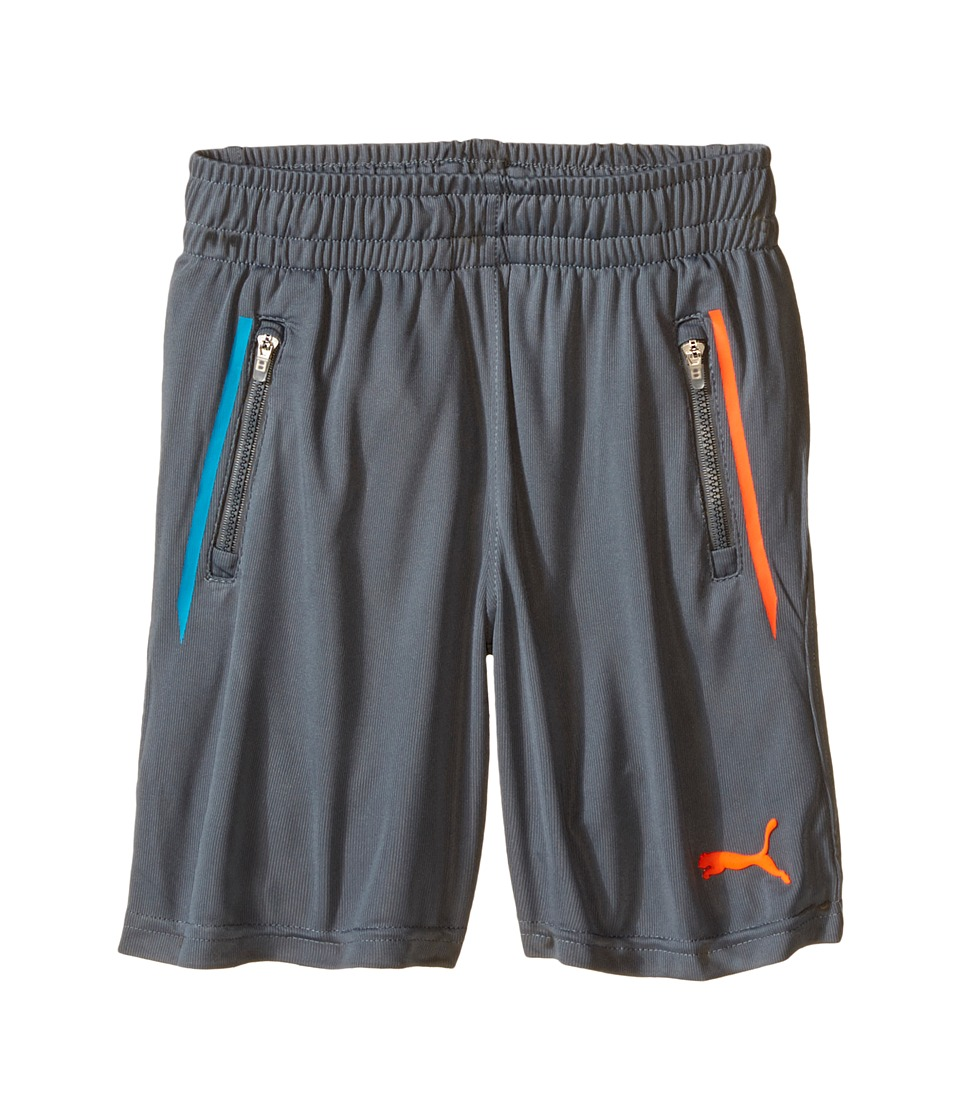Puma Kids - Active Jersey Shorts (Little Kids) (Smoke Grey) Boy's Shorts