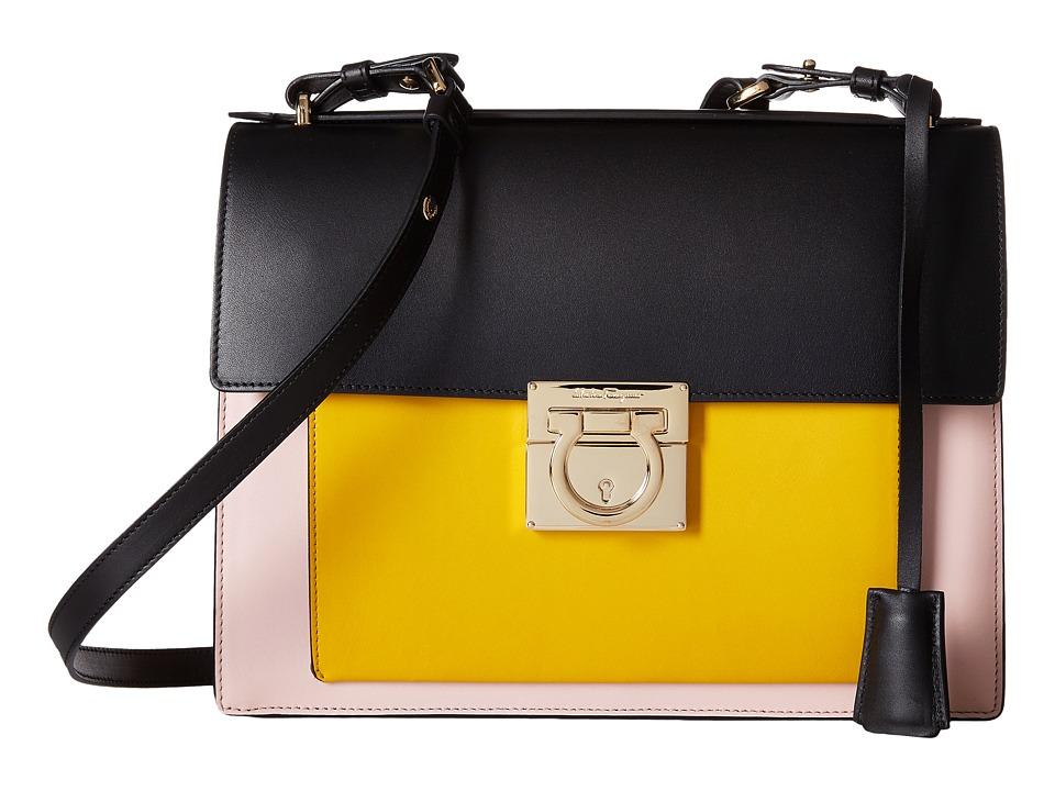 Salvatore Ferragamo - Marisol 21F576 (Bonbon/Nero/Pollen) Handbags