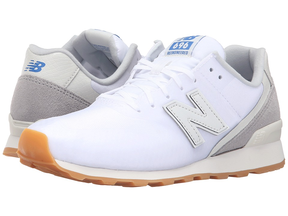 New Balance Classics - W696 (White/Grey) Women's Classic Shoes