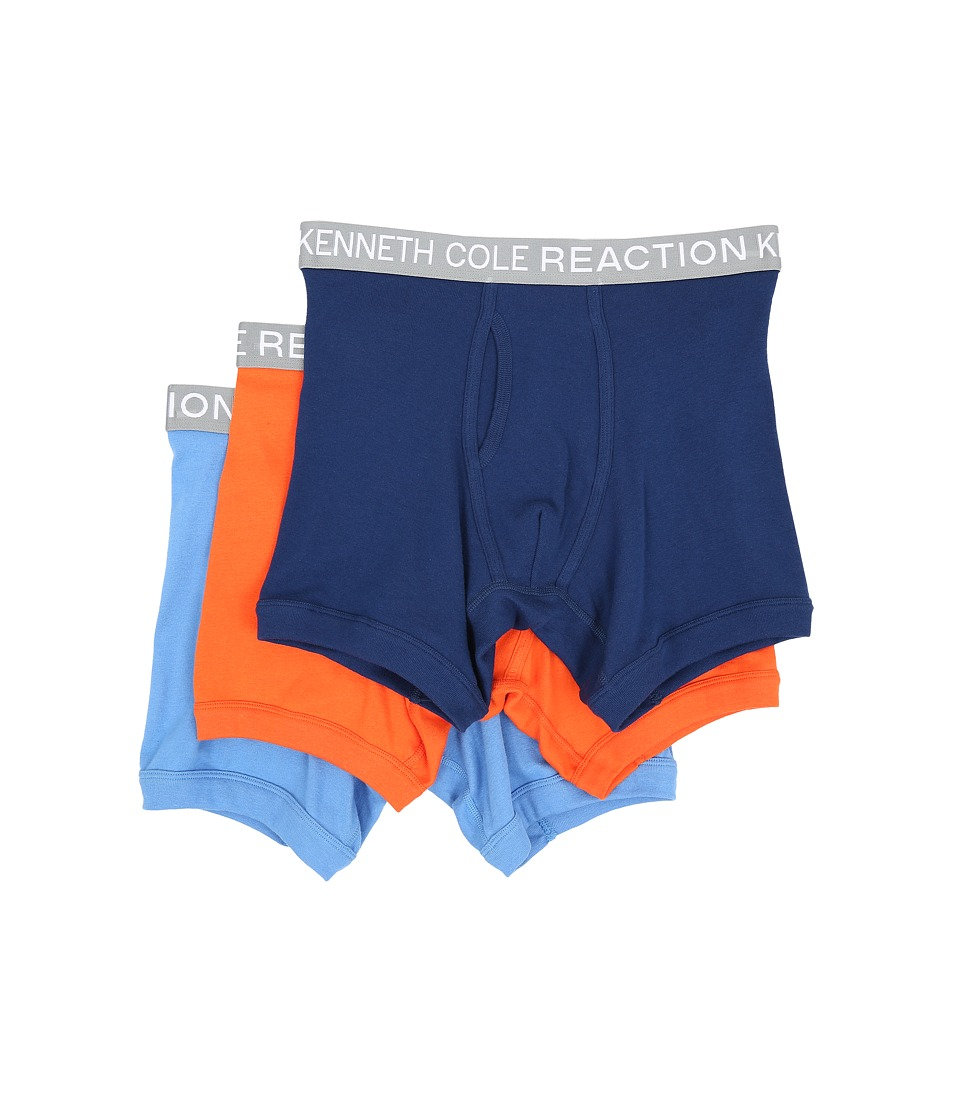 Kenneth Cole Reaction - 3-Pack Boxer Brief (Navy/Red/Orange/Marine Blue) Men's Underwear
