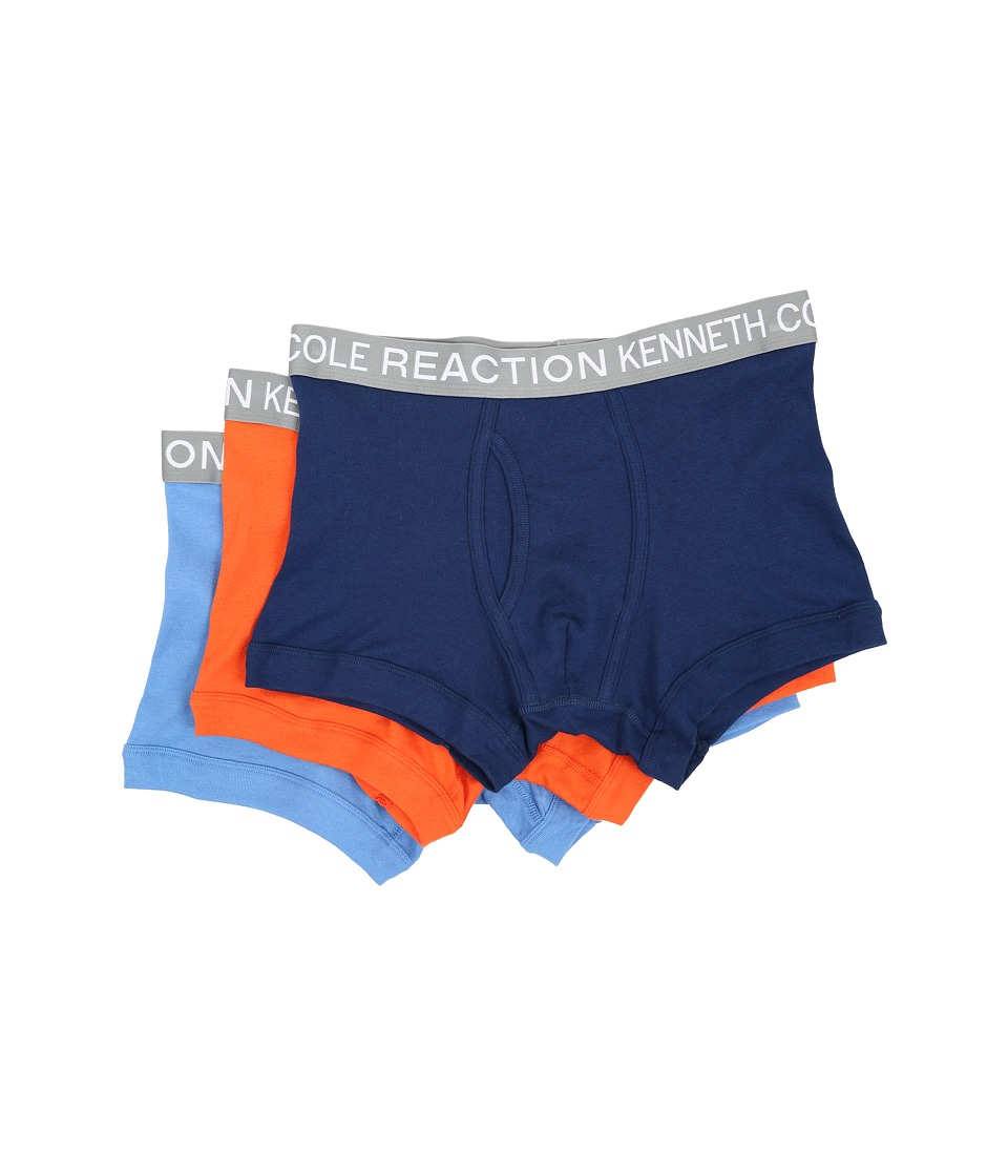 Kenneth Cole Reaction - 3-Pack Trunk (Navy/Red/Orange/Marine Blue) Men's Underwear