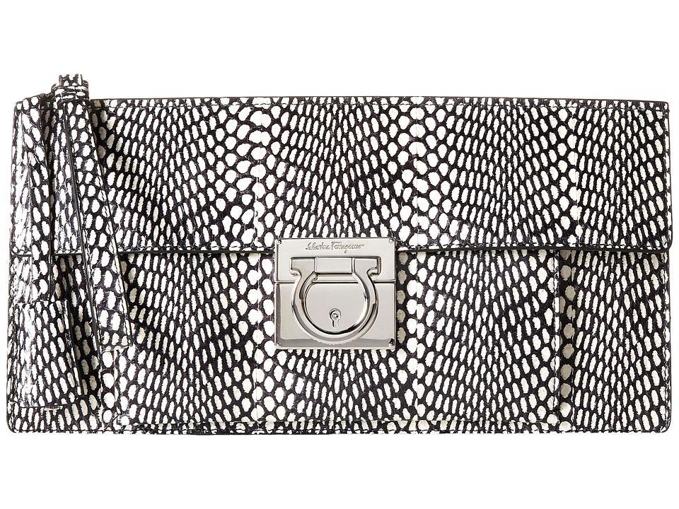 Salvatore Ferragamo - Ada (Nero/Bianco/Nero/Rosso) Handbags