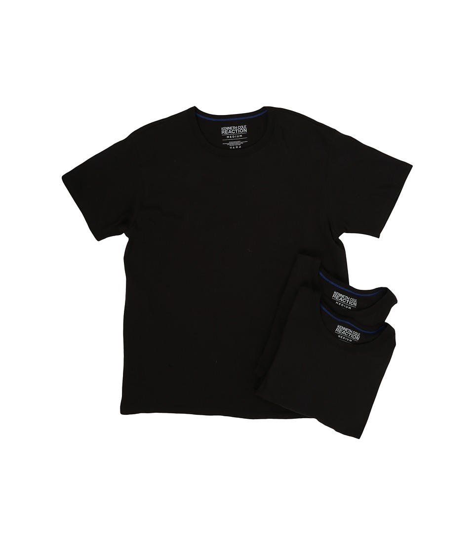 Kenneth Cole Reaction - 3-Pack Crew Neck Tee (Black) Men's T Shirt