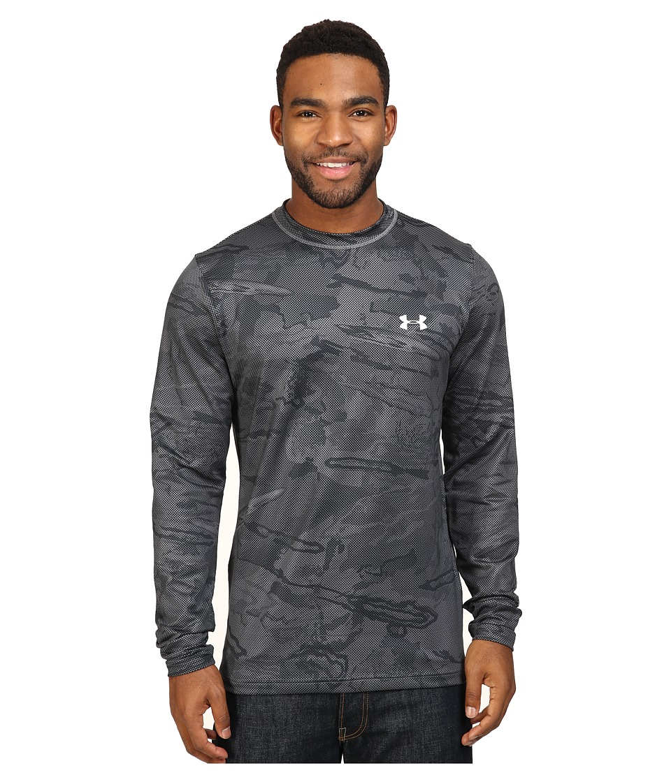 Under Armour - UA CGI Evo Crew (Graphite/White) Men's Clothing