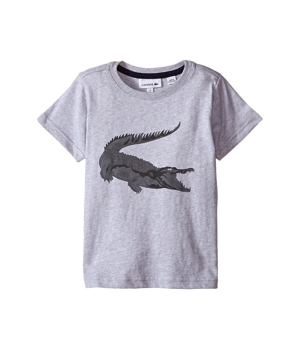 Lacoste Kids - Short Sleeve Robert George Tee Shirt (Toddler/Little Kids/Big Kids) (Silver Grey Chine) Boy's T Shirt