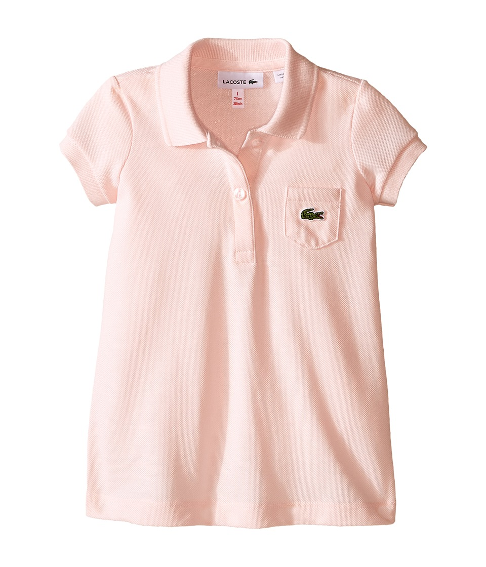 Lacoste Kids - Short Sleeve Classic Pique Polo Dress (Toddler/Little Kids/Big Kids) (Flamingo Pink) Girl's Dress