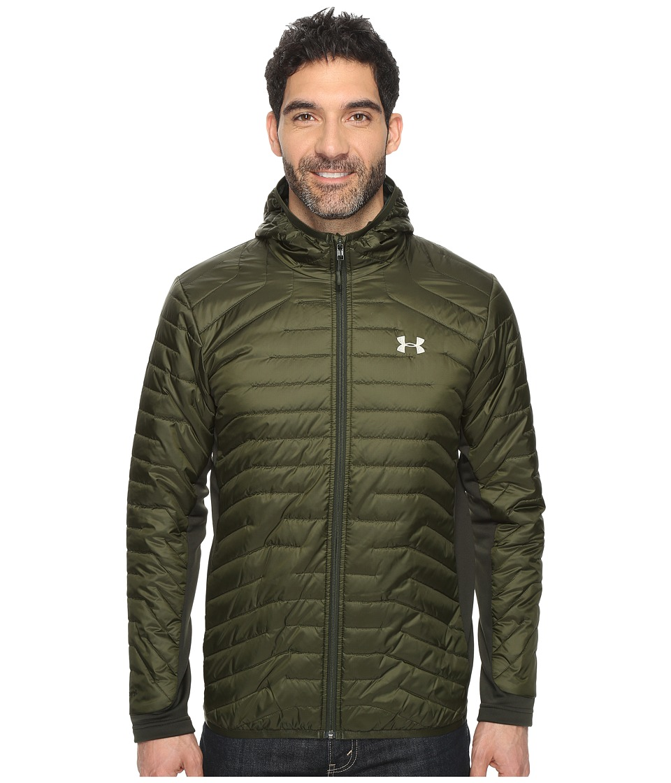 Under Armour - UA ColdGear Hybrid Jacket (Artillery Green/Graystone) Men's Coat
