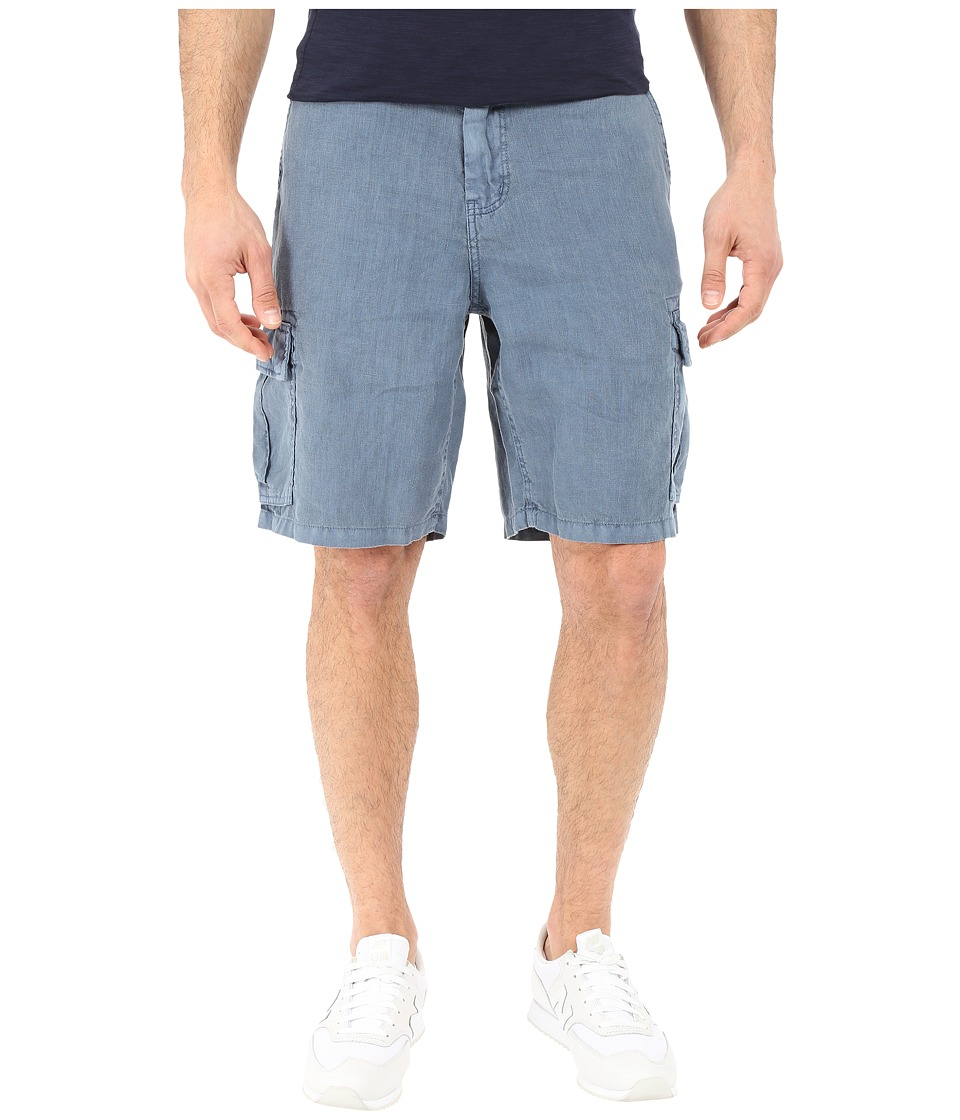 True Grit - Sunset Linen Cargo Drawstring Short (Vintage Indigo) Men's Shorts