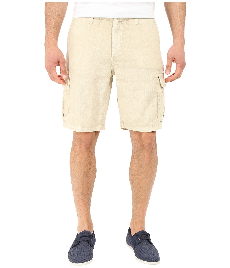 True Grit - Sunset Linen Cargo Drawstring Short (Faded Stone) Men's Shorts