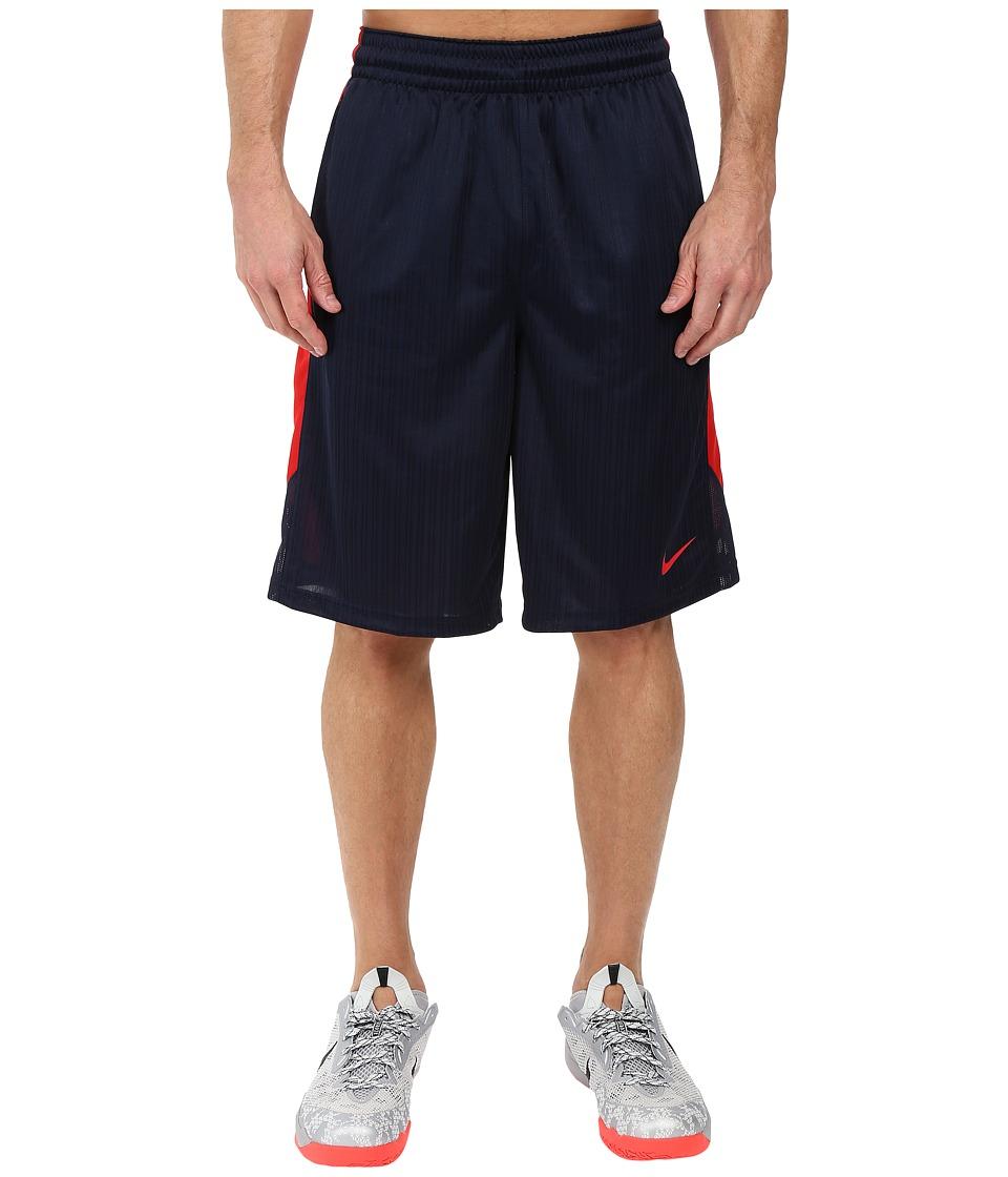 Nike - Layup Shorts 2.0 (Obsidian/University Red/University Red) Men's Shorts