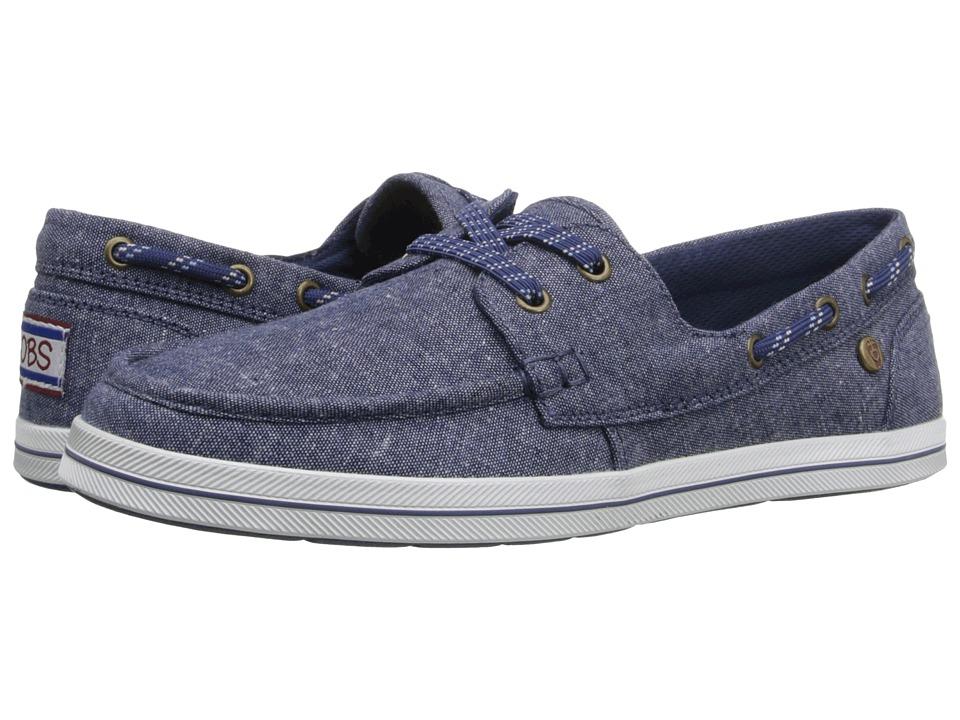 BOBS from SKECHERS - Bobs Flexy - Port Side (Denim) Women's Slip on Shoes