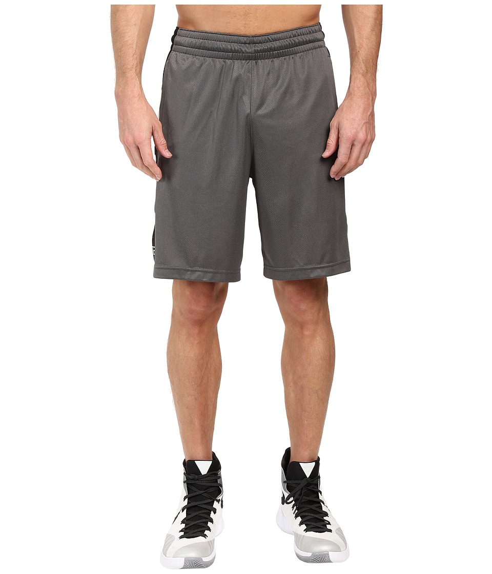 Nike Elite Stripe Short (Charcoal Heather/Black/Metallic Silver) Men