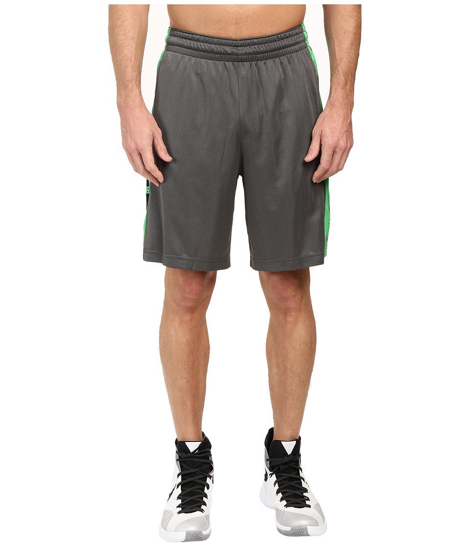 Nike Elite Stripe Short (Charcoal Heather/Metallic Silver) Men