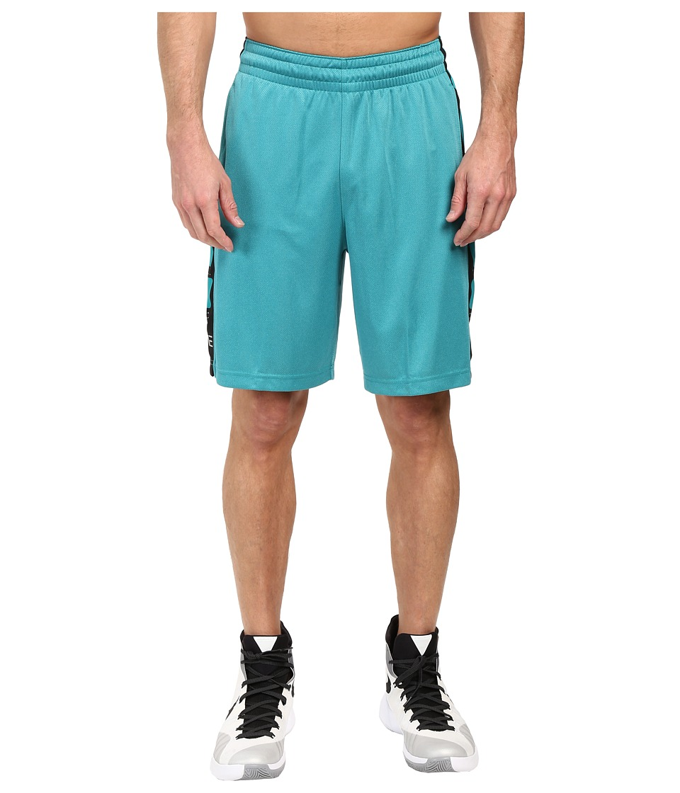 Nike - Elite Stripe Short (Rio Teal Heather/Black/Metallic Silver) Men's Shorts