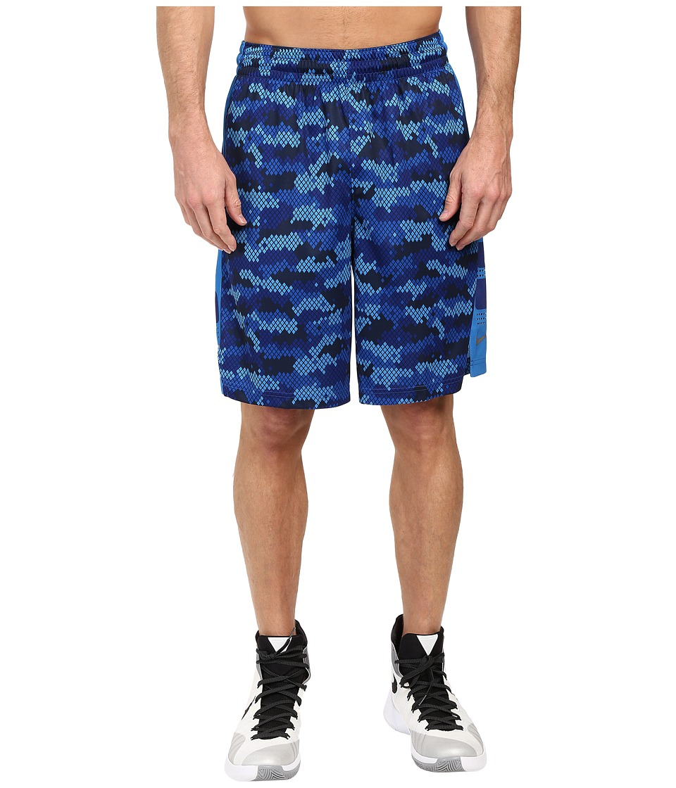 Nike Elite 9 Basketball Short (Deep Royal Blue/Matte Silver) Men