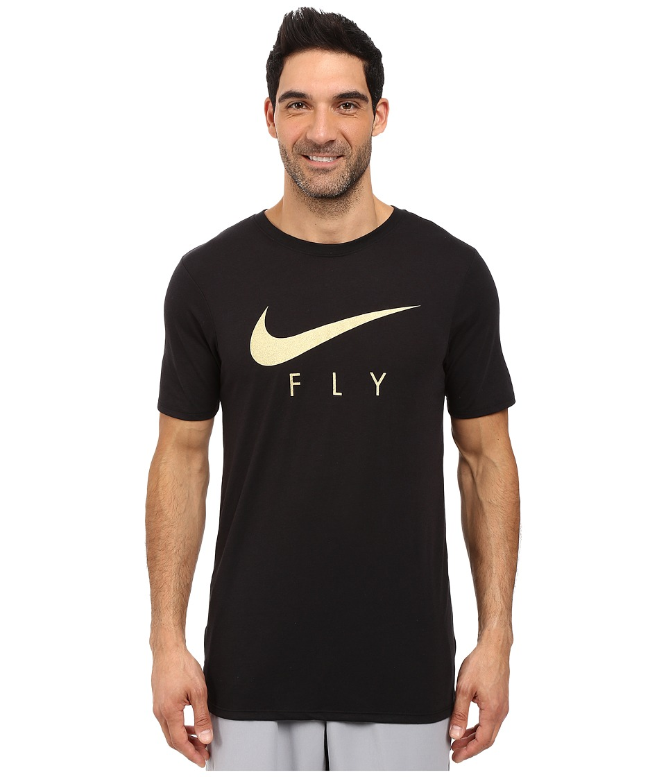 Nike Fly Droptail Tee (Black/Black/Gold) Men