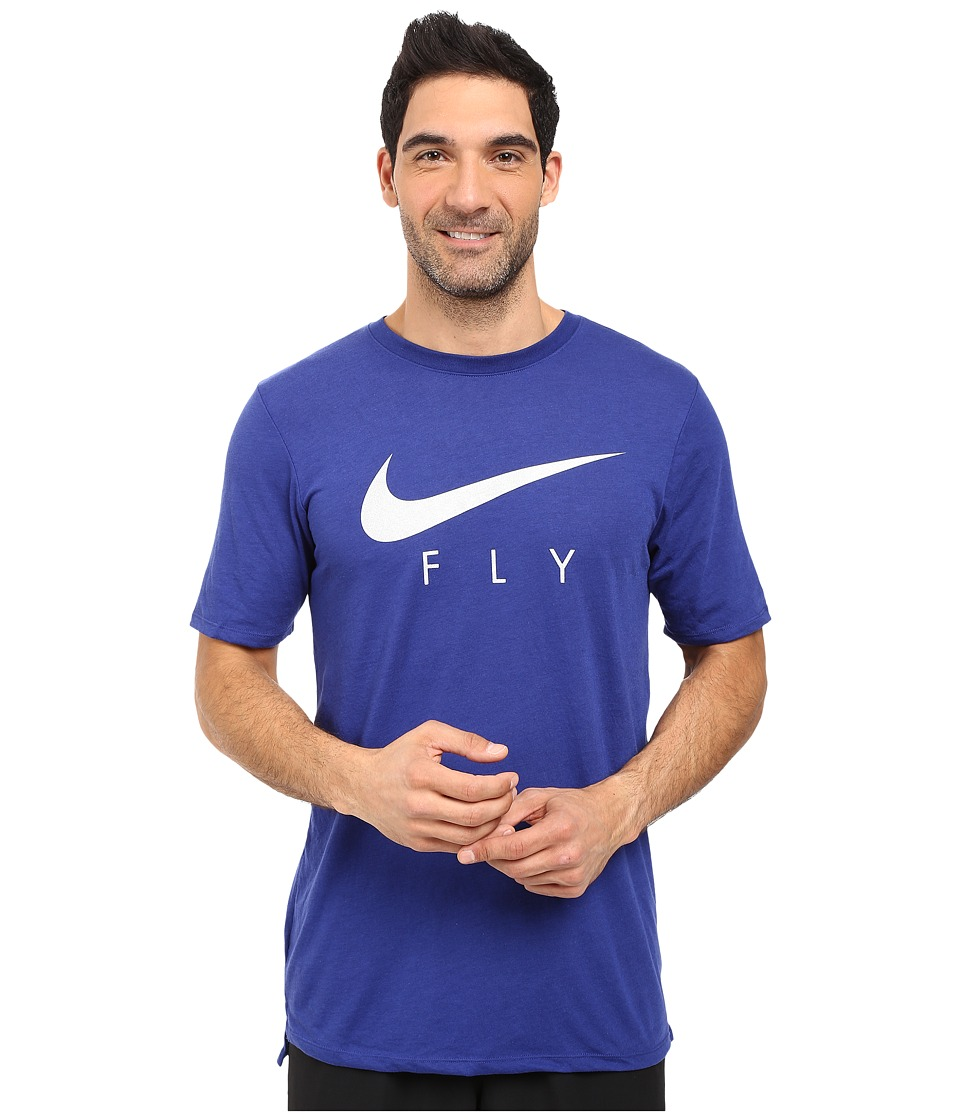 Nike Fly Droptail Tee (Deep Royal Blue/Deep Royal Blue) Men
