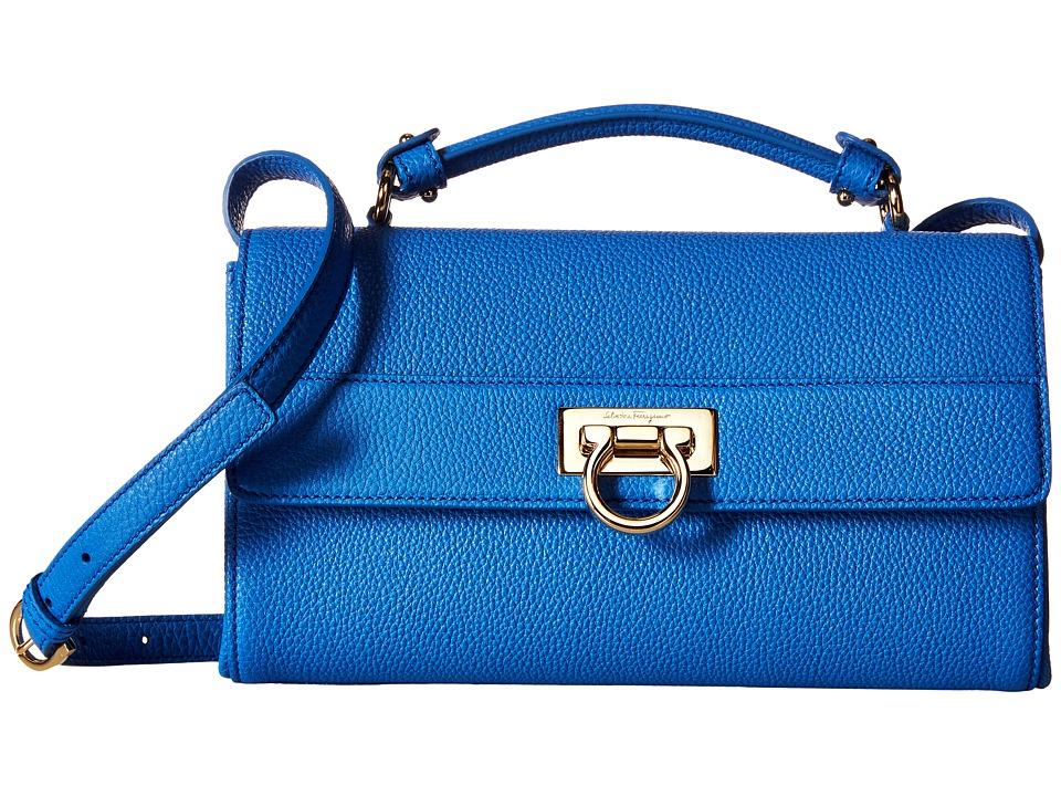Salvatore Ferragamo - Ably (Bleu Indien/Bleu Indien) Handbags