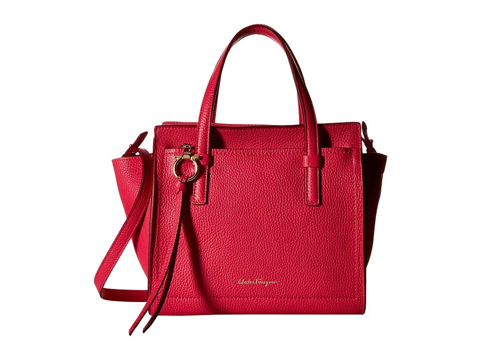 Salvatore Ferragamo - Amy 21F478 (Framboise/Framboise) Satchel Handbags