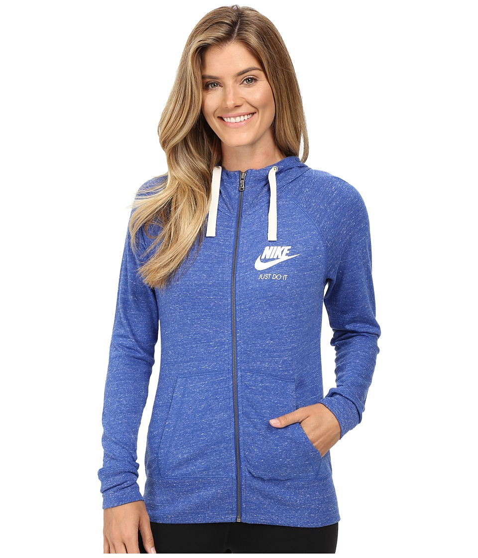 Nike - Gym Vintage Full Zip Hoodie (Game Royal/Sail) Women's Sweatshirt