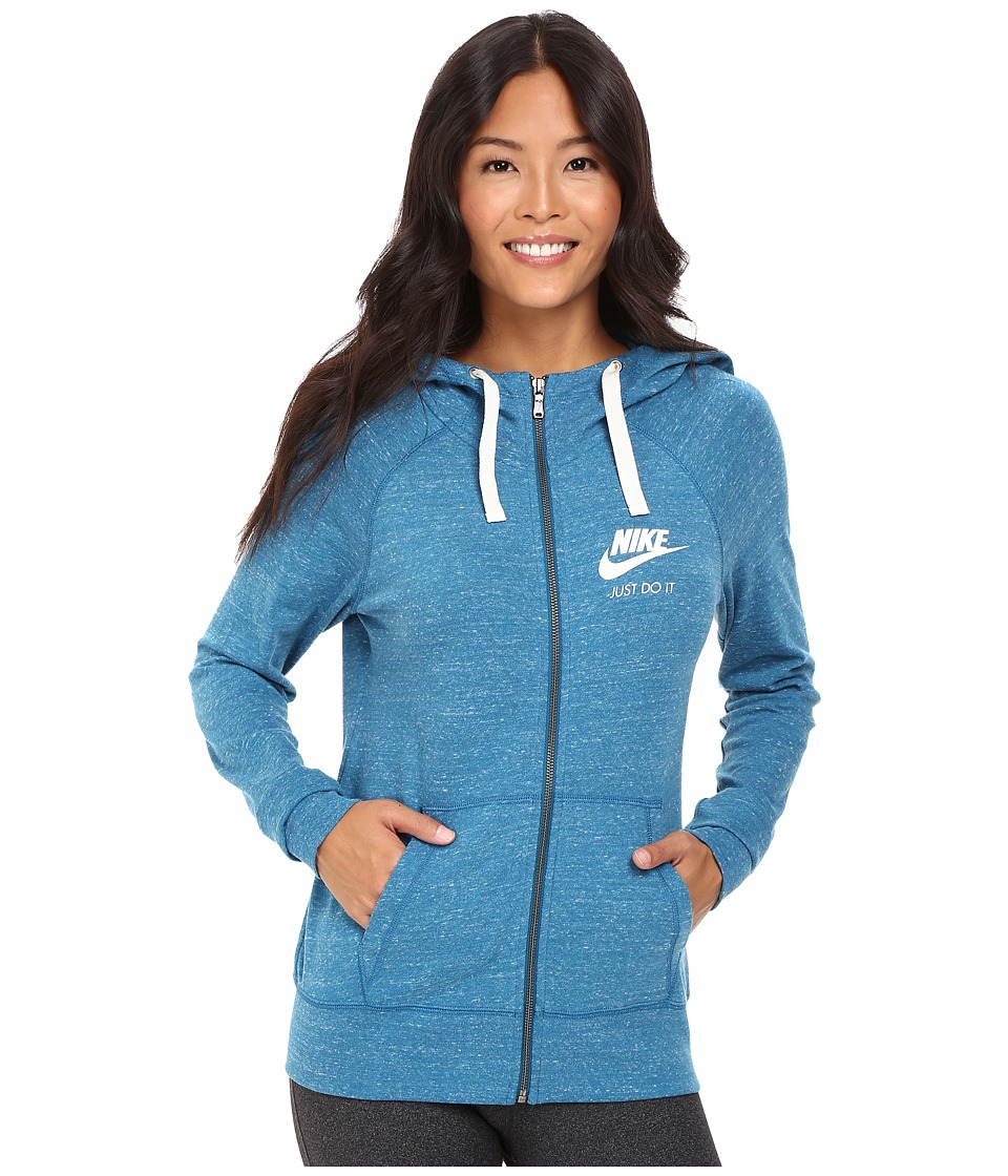 Nike - Gym Vintage Full Zip Hoodie (Green Abyss/Sail) Women's Sweatshirt