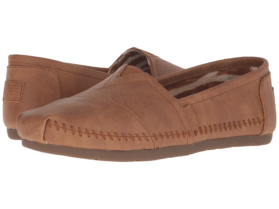 BOBS from SKECHERS - Luxe Bobs - Blue Skies (Chestnut) Women's Slip on Shoes