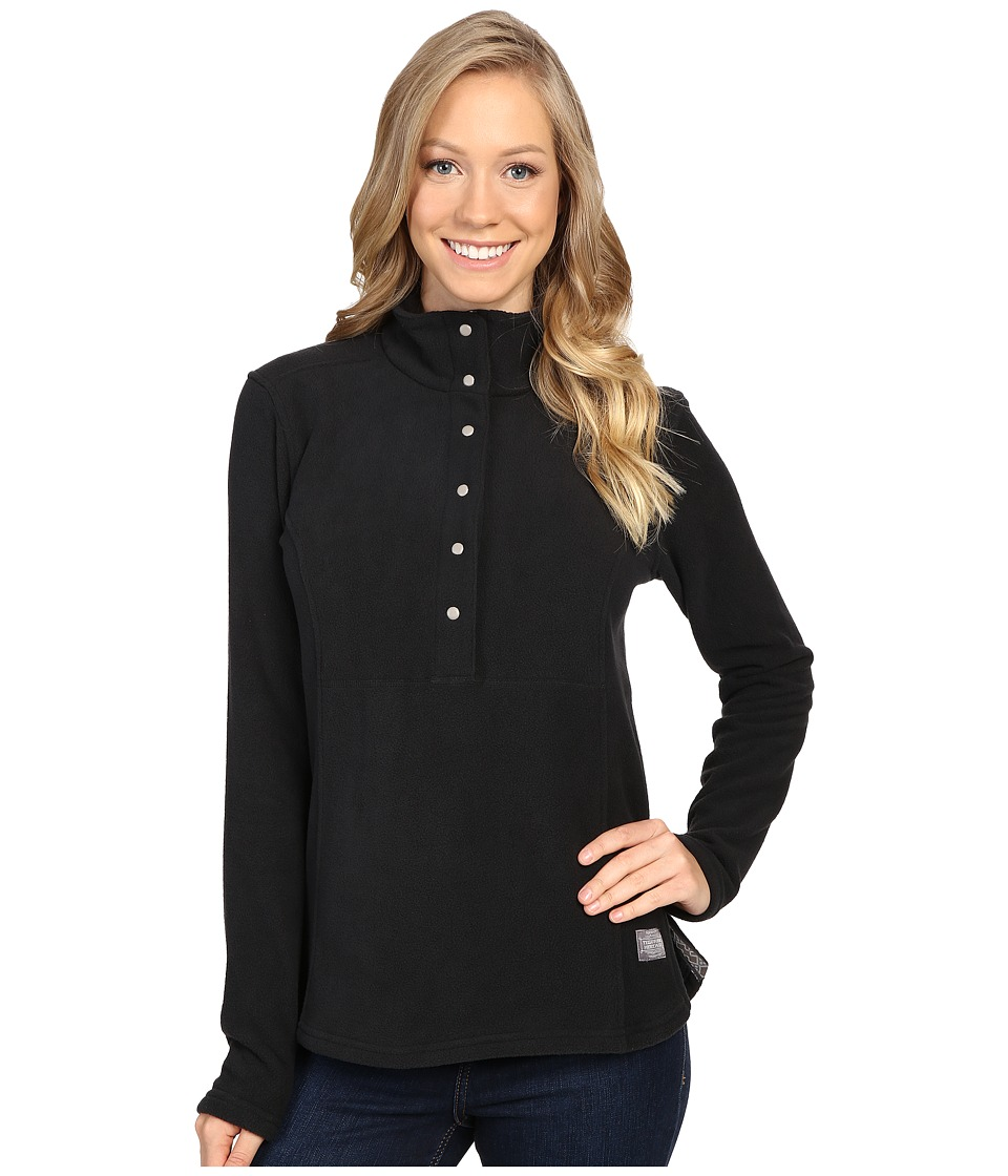 Toad&Co - Liftie Fleece Pullover (Black) Women's Clothing