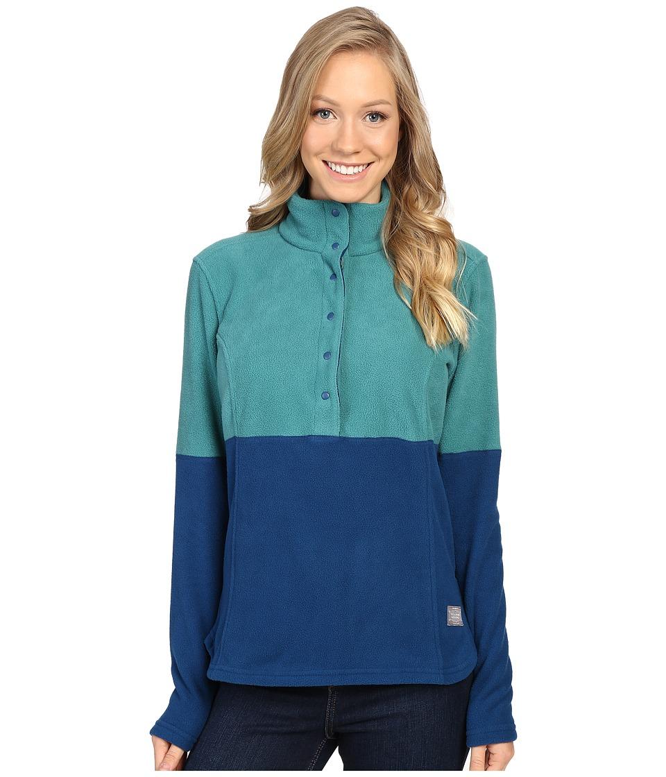 Toad&Co - Liftie Fleece Pullover (Marine Green) Women's Clothing