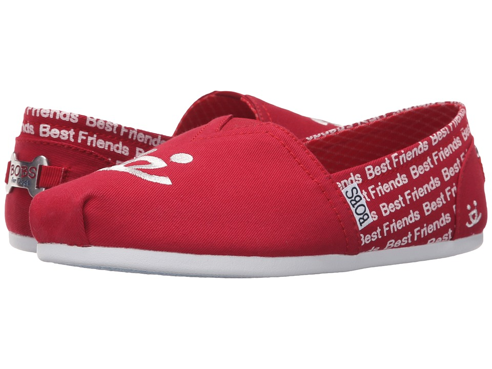 BOBS from SKECHERS - Bobs Plush - Best Friends (Red) Women's Slip on Shoes