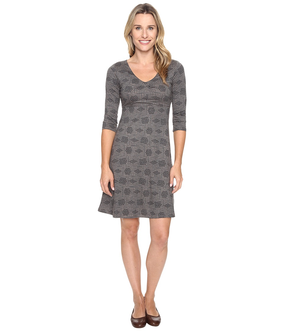 Toad&Co - Rosalinda Dress (Dark Graphite Basket Print) Women's Dress