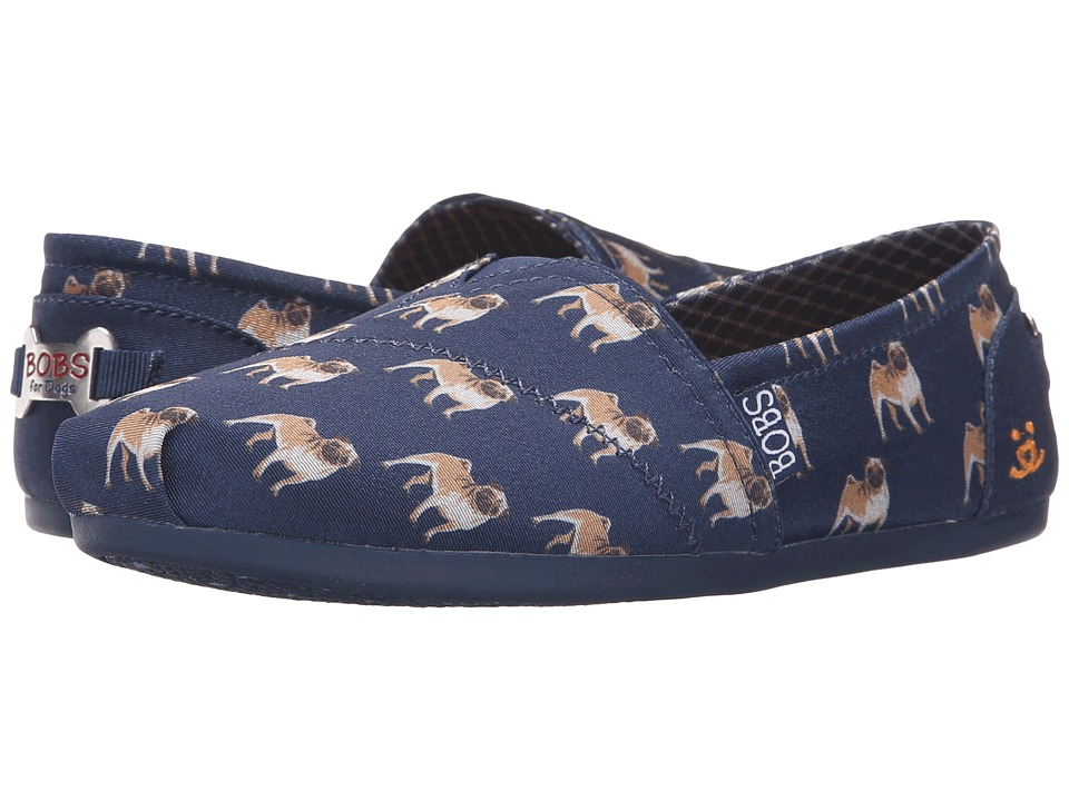 BOBS from SKECHERS Bobs Plush Puggin Around (Navy) Women