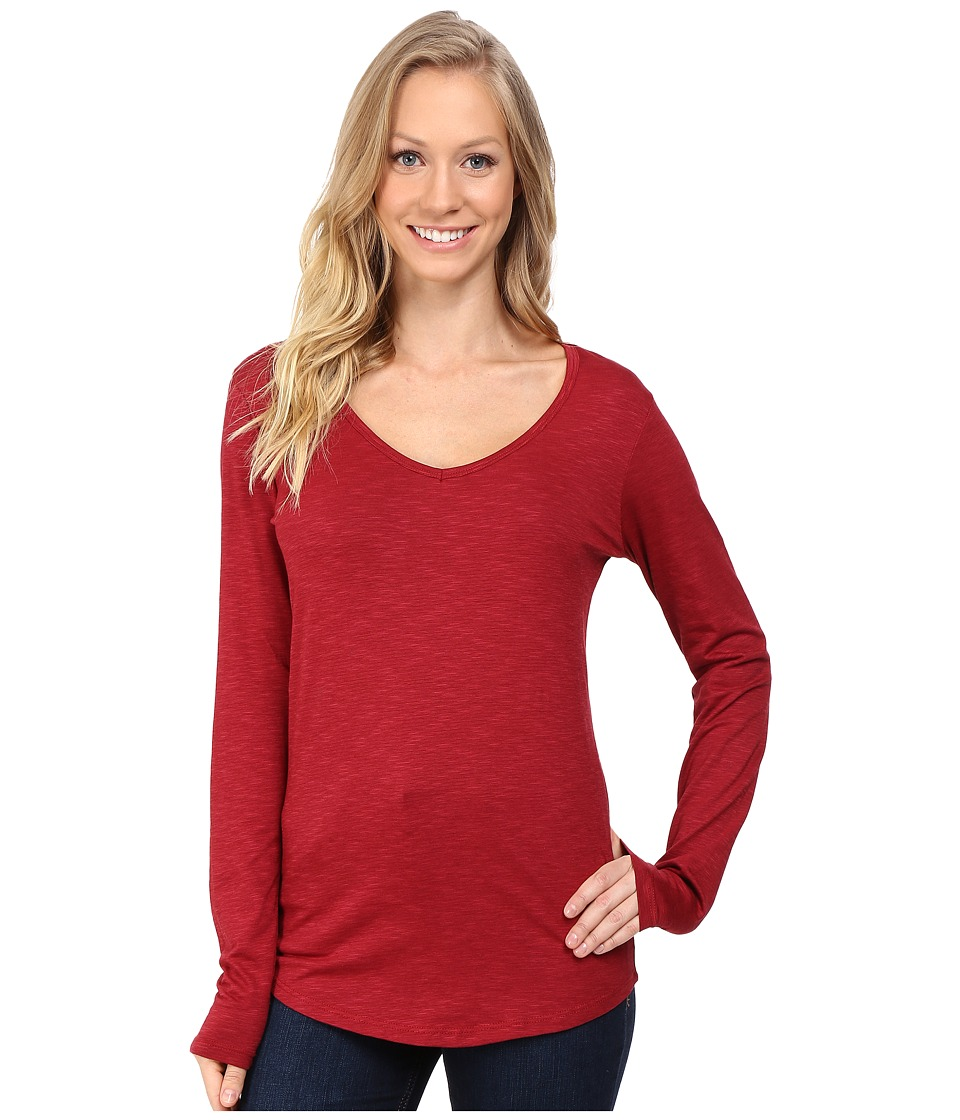 Toad&Co - Marley Long Sleeve Tee (House Red) Women's T Shirt