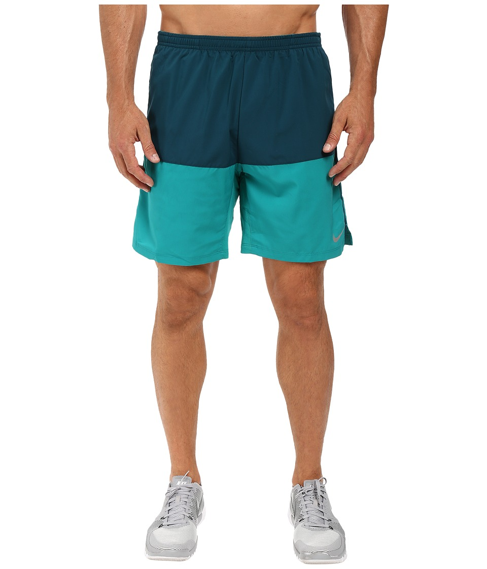 Nike 7 Distance Running Short (Midnight Turquoise/Rio Teal/Reflective Silver) Men