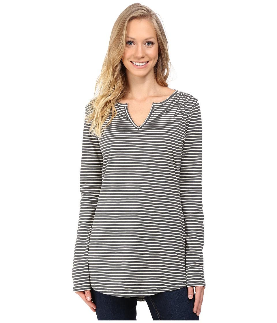 Toad&Co - Tamaya Long Sleeve Tunic (Dark Graphite Stripe) Women's Blouse
