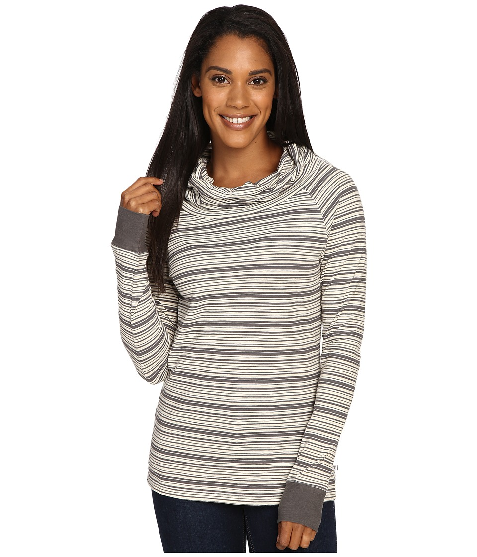 Toad&Co - Stripe Out Boat Twist Tee (Smoke Stripe) Women's Clothing