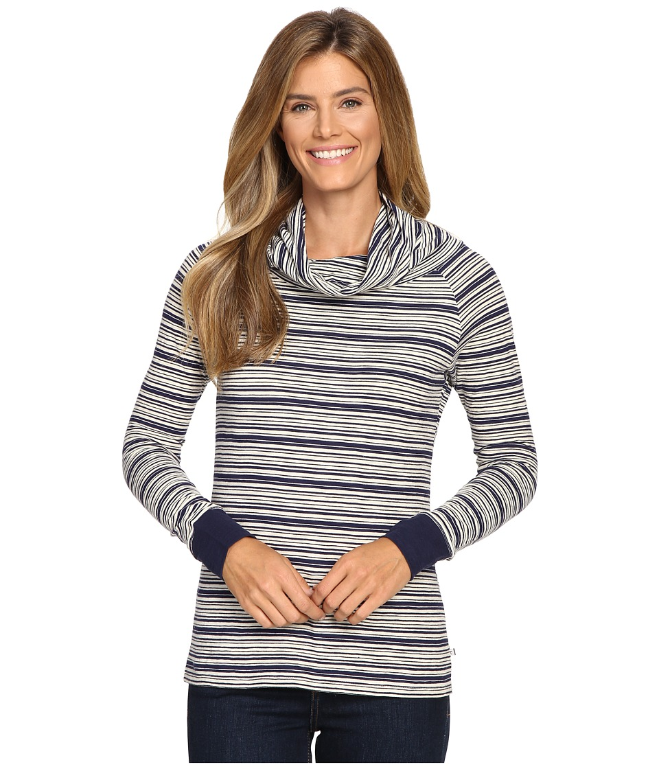 Toad&Co - Stripe Out Boat Twist Tee (Deep Navy Stripe) Women's Clothing