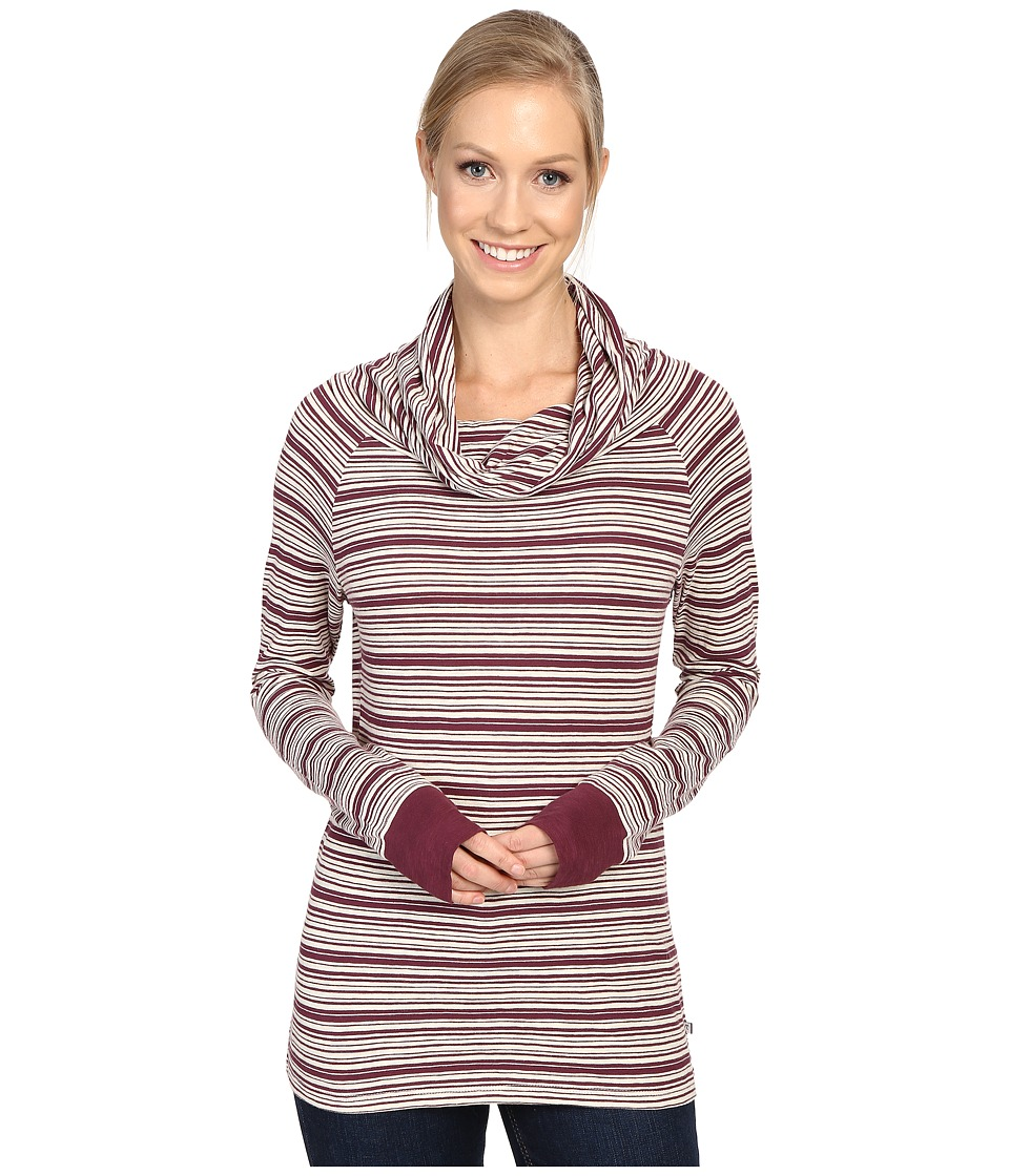 Toad&Co - Stripe Out Boat Twist Tee (Vino Stripe) Women's Clothing