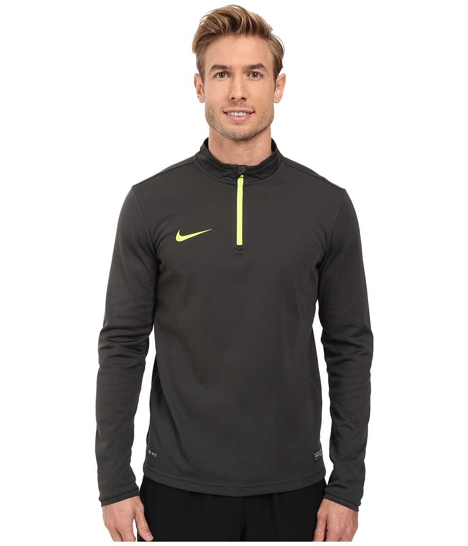 Nike - Academy Midlayer Top (Anthracite/Volt/Volt) Men's Workout