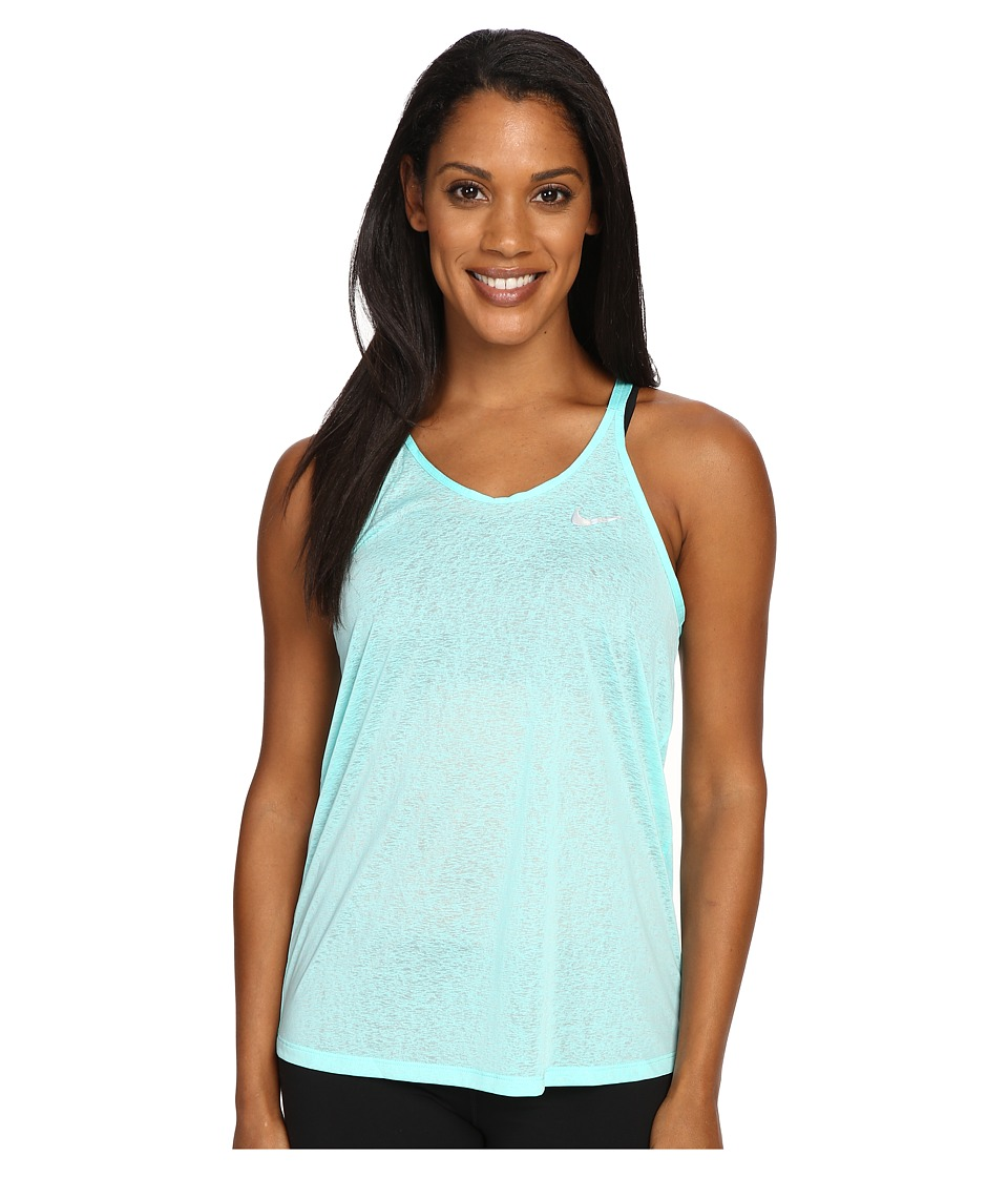Nike - Dri-FIT Cool Breeze Strappy Running Tank Top (Hyper Turquoise/Reflective Silver) Women's Sleeveless
