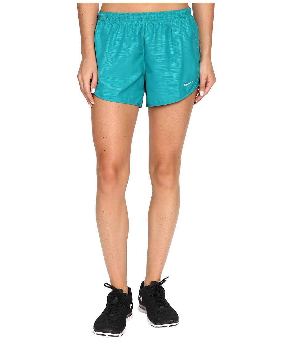 Nike - 3 Tempo Modern Embossed Running Short (Rio Teal/Reflective Silver) Women's Shorts