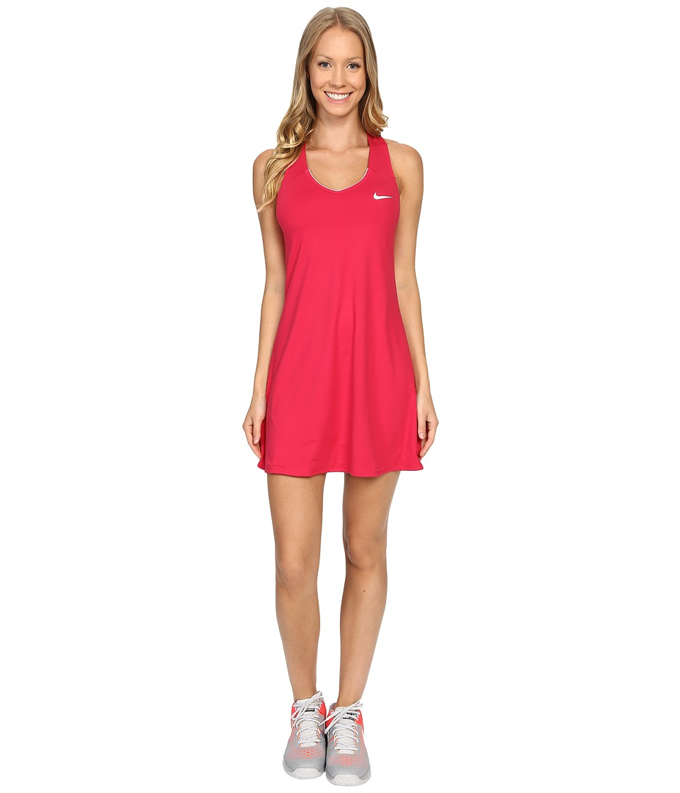 Nike - Court Pure Tennis Dress (Fuchsia Flux/White) Women's Dress