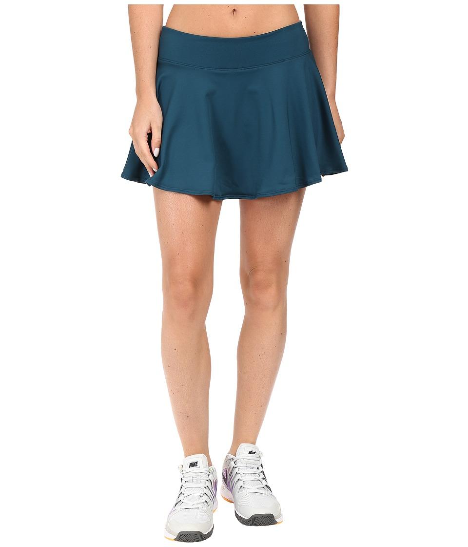 Nike Court Baseline Tennis Skirt (Midnight Turquoise/Midnight Turquoise) Women