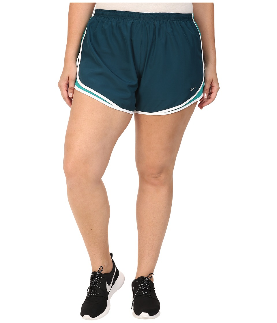 Nike - Dry Tempo Running Short (Size 1X-3X) (Midnight Turquoise/Rio Teal/White/Wolf Grey) Women's Shorts