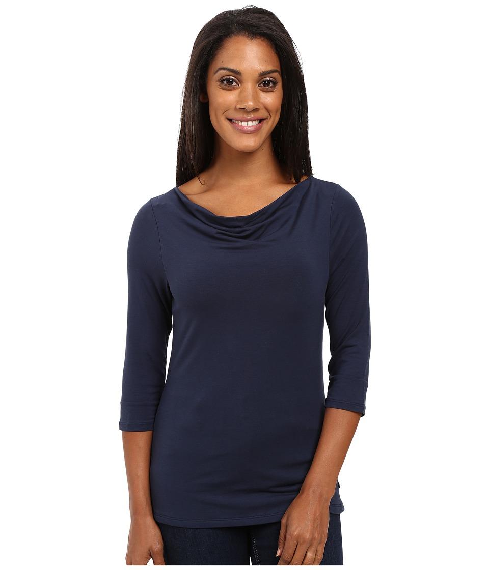 Toad&Co - Wisper 3/4 Double Tee (Deep Navy) Women's T Shirt