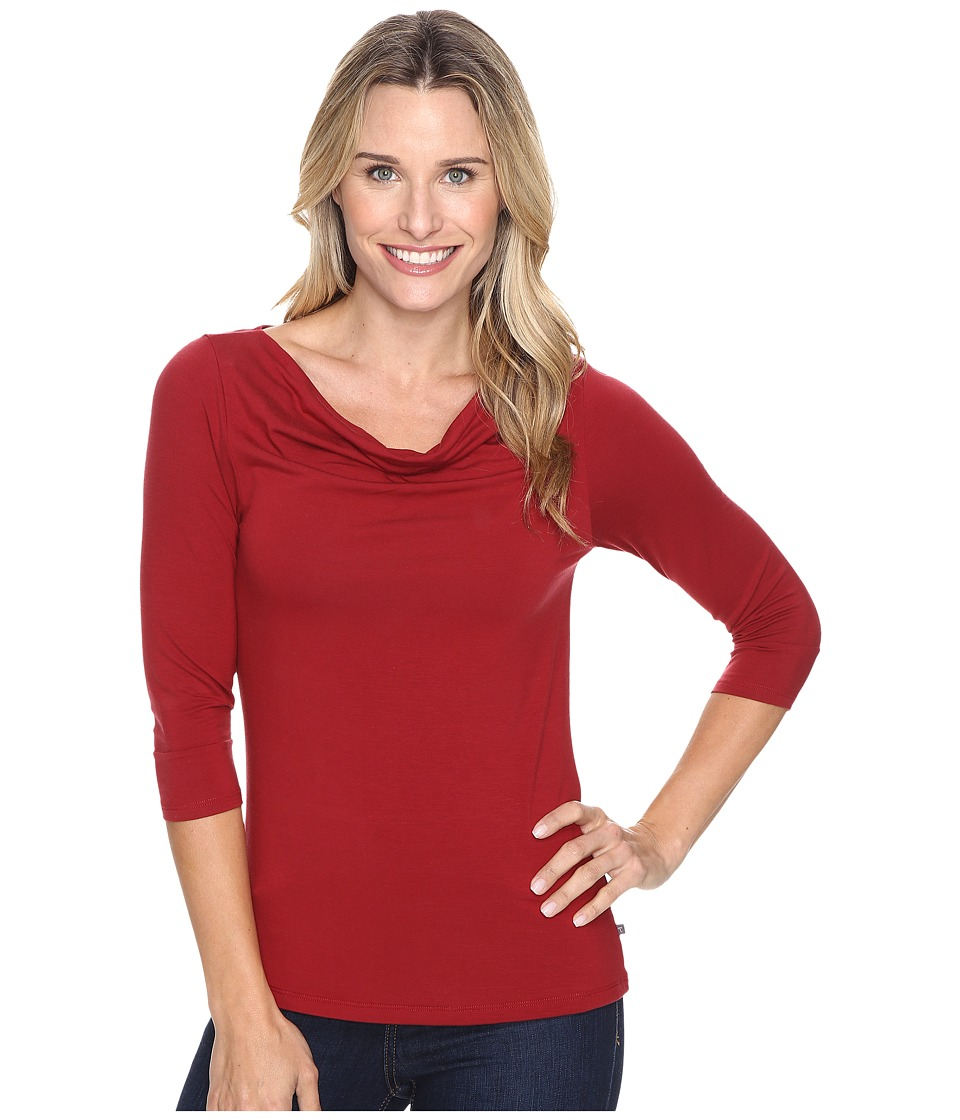 Toad&Co - Wisper 3/4 Double Tee (House Red) Women's T Shirt