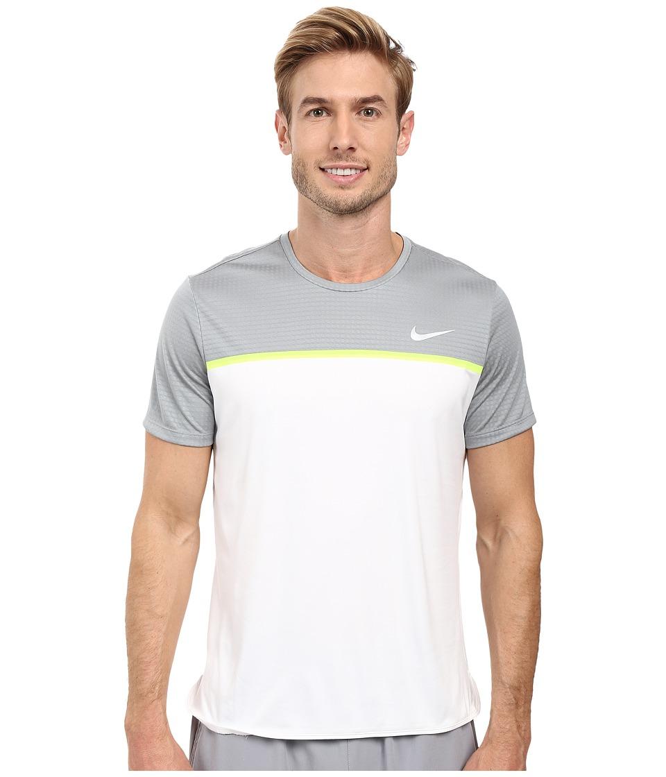 Nike - Challenger Crew (Stealth/White/Volt/White) Men's T Shirt