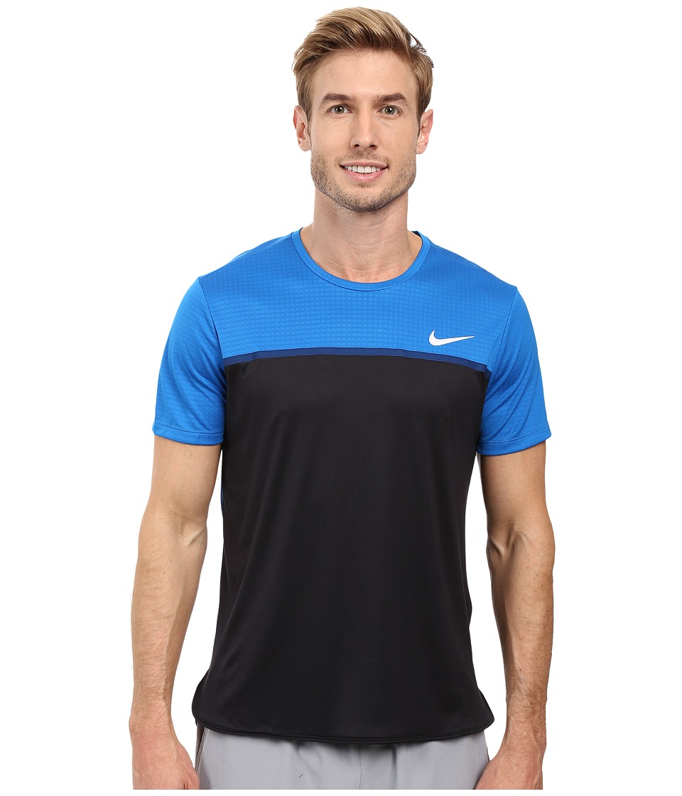 Nike - Challenger Crew (Blue Spark/Black/Coastal Blue/White) Men's T Shirt