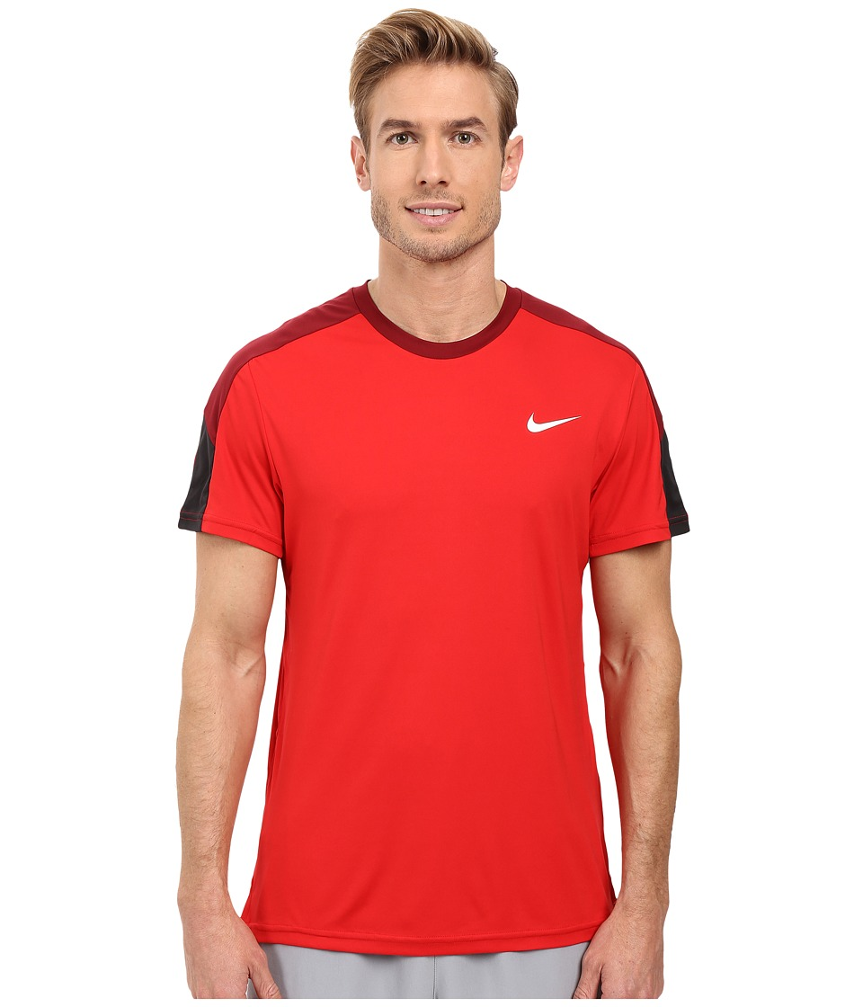 Nike - Court Tennis Shirt (University Red/Team Red/White/White) Men's T Shirt